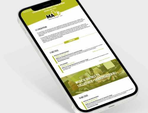 Newsletter Mailchimp pour Maks Vzw