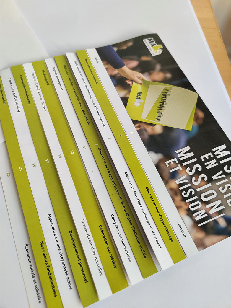 brochure missie en visie